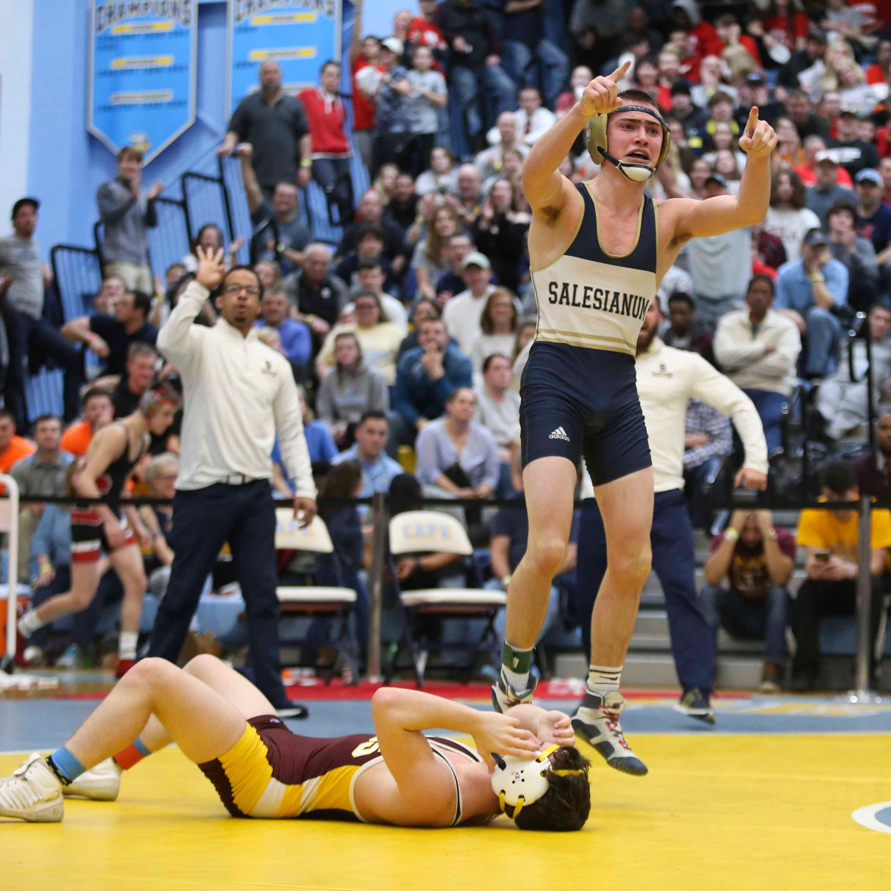 Delaware Wrestler of the Year Zach Spence learned a key early lesson
