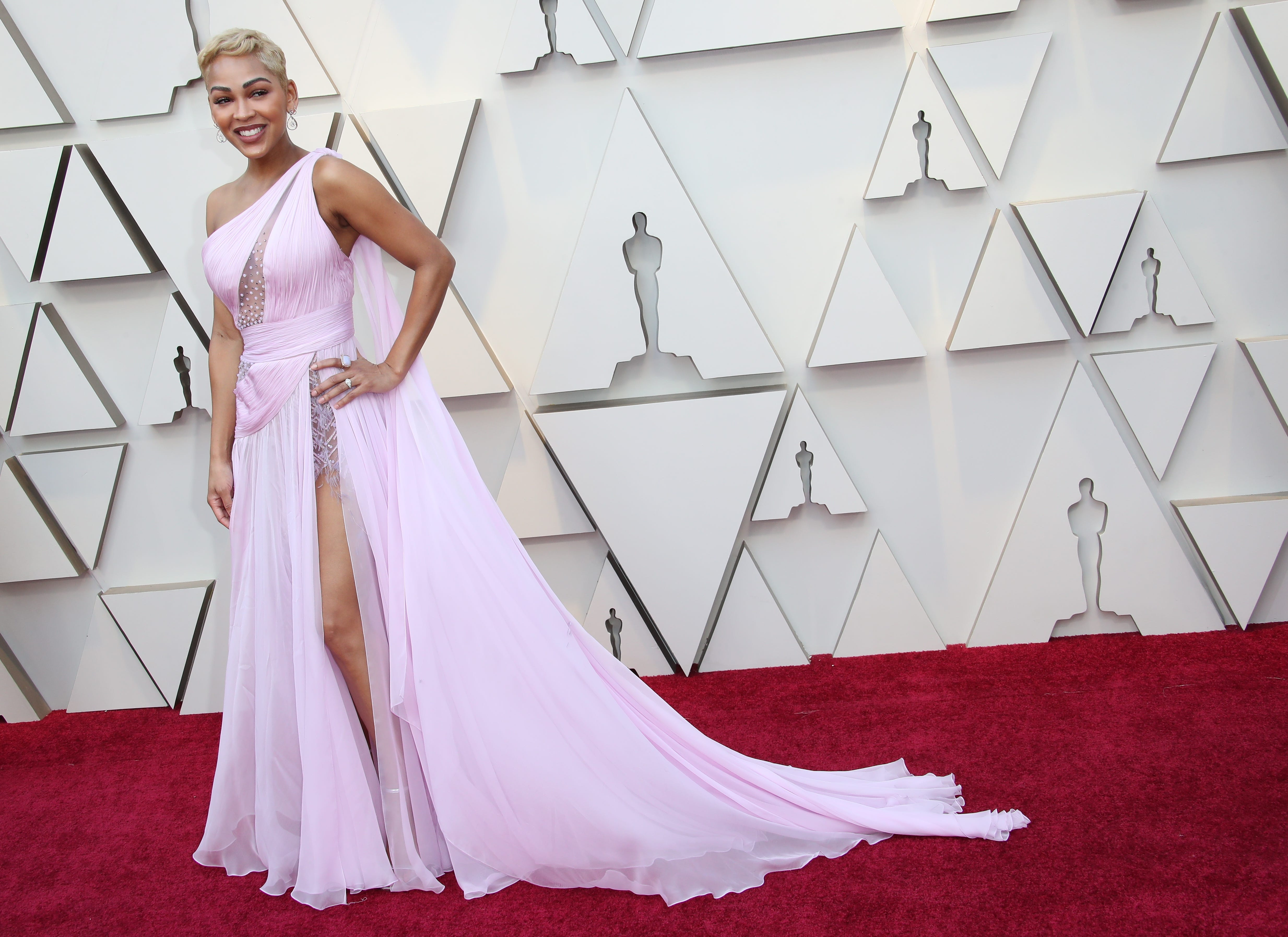 February 24, 2019; Los Angeles, CA, USA; Meagan Good arrives at the 91st Academy Awards at the Dolby Theatre. Mandatory Credit: Dan MacMedan-USA TODAY NETWORK (Via OlyDrop)