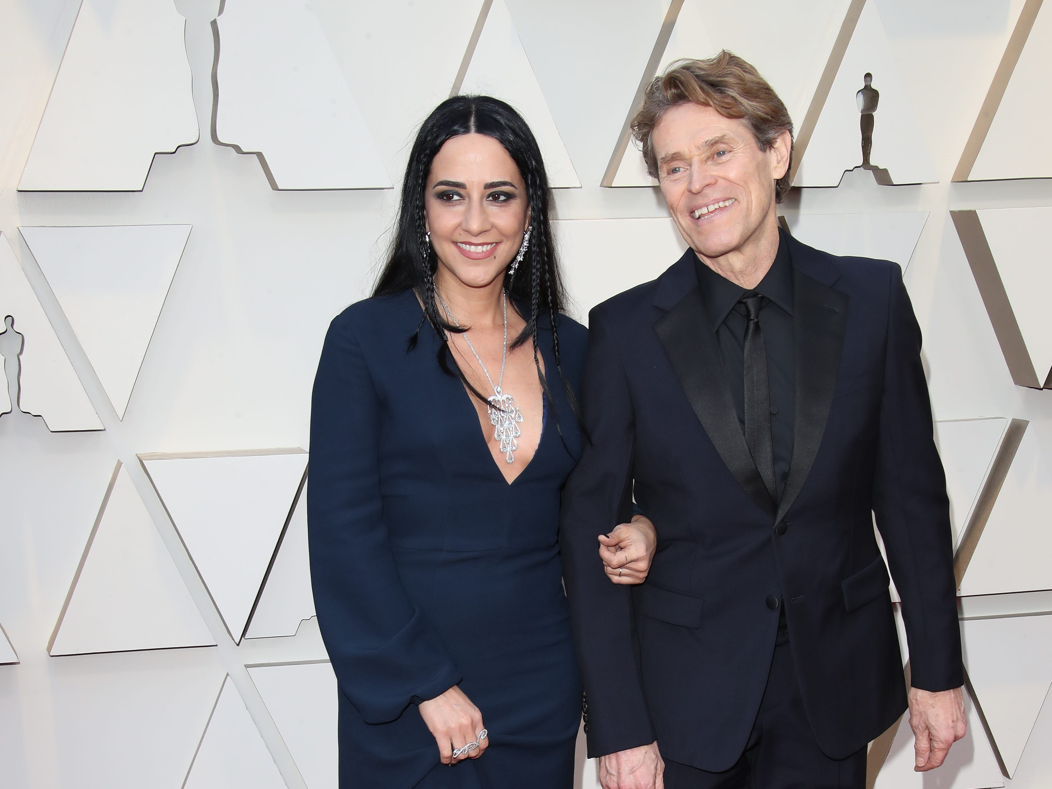 February 24, 2019; Los Angeles, CA, USA; Giada Colagrande, left and Willem Dafoe arrive at the 91st Academy Awards at the Dolby Theatre. Mandatory Credit: Dan MacMedan-USA TODAY NETWORK (Via OlyDrop)