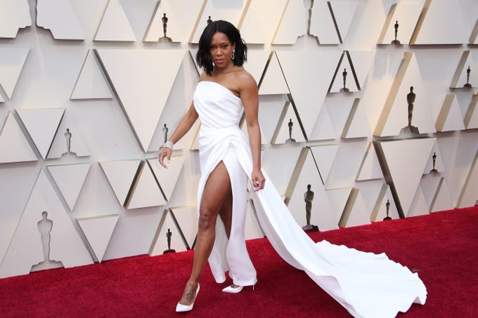 Hollywood A-listers brought their fashion A-game to the red carpet at Sunday's Academy Awards in Los Angeles, including Regina King.