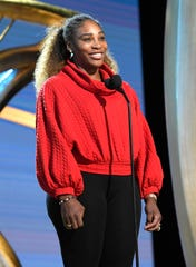 Serena Williams brought her young daughter to experience Oscars rehearsals Saturday.