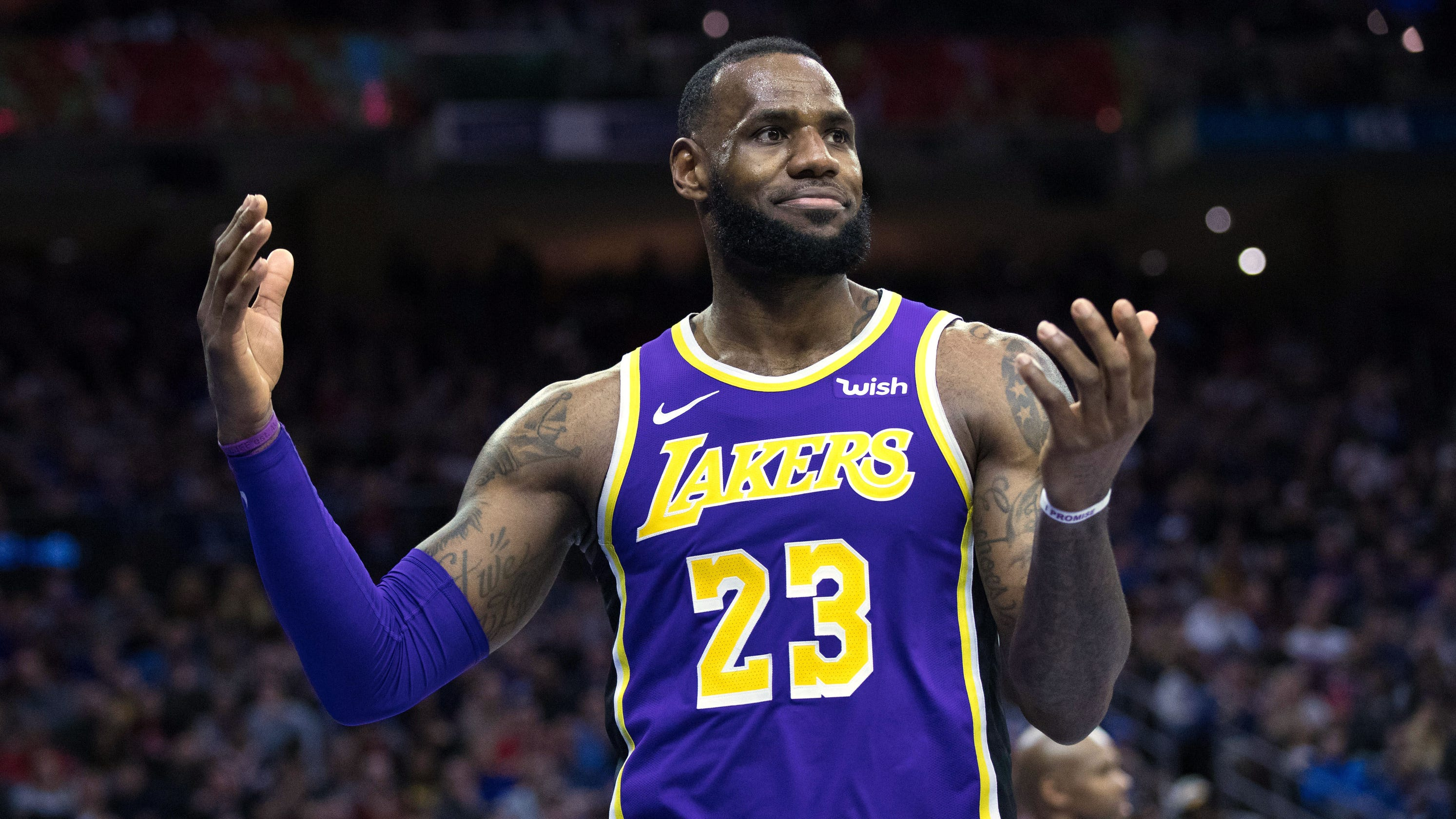 4552b781a237 Los Angeles Lakers  LeBron James questions teammates sense of urgency