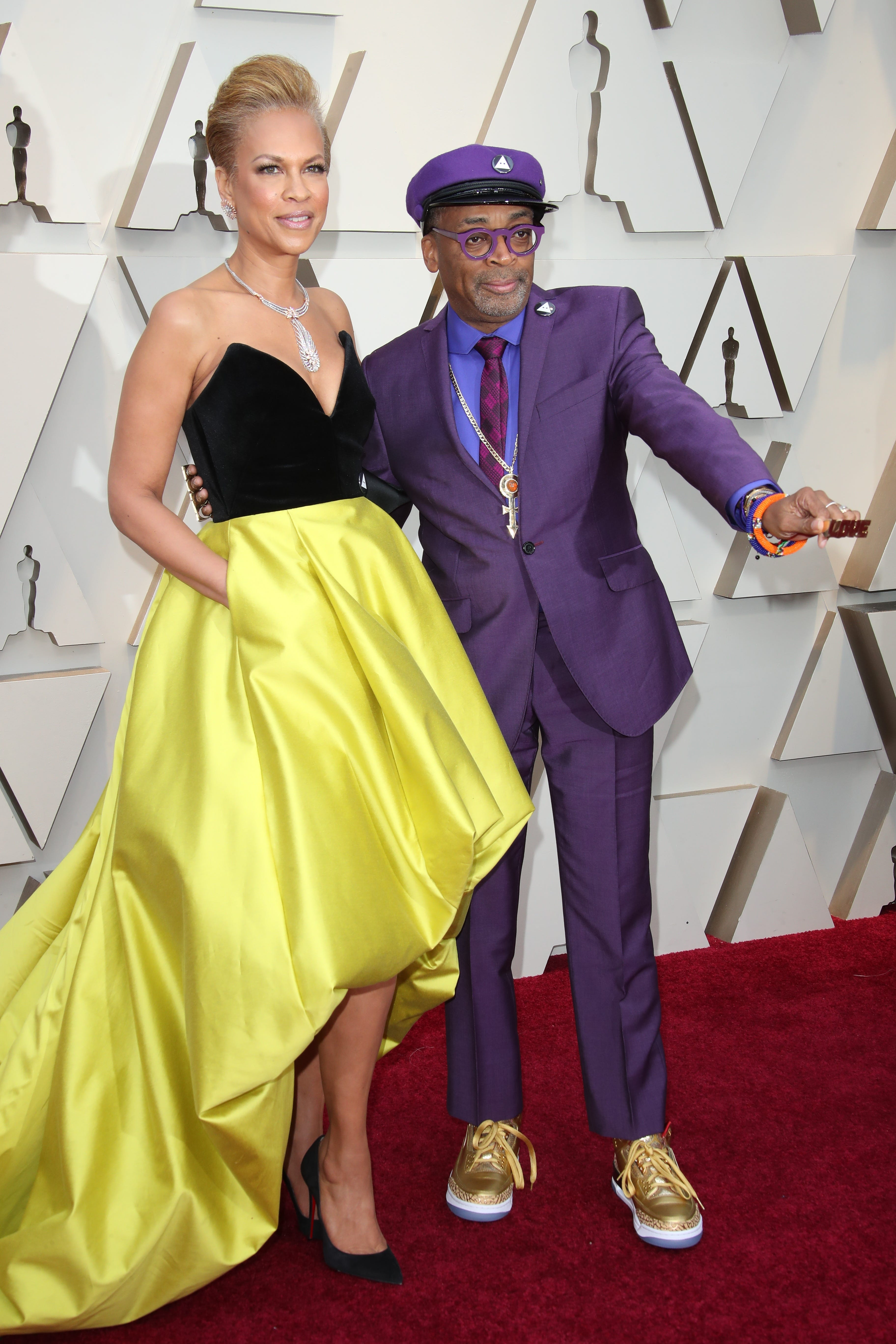 February 24, 2019; Los Angeles, CA, USA; Tonya Lewis Lee, left and Spike Lee arrive at the 91st Academy Awards at the Dolby Theatre. Mandatory Credit: Dan MacMedan-USA TODAY NETWORK (Via OlyDrop)