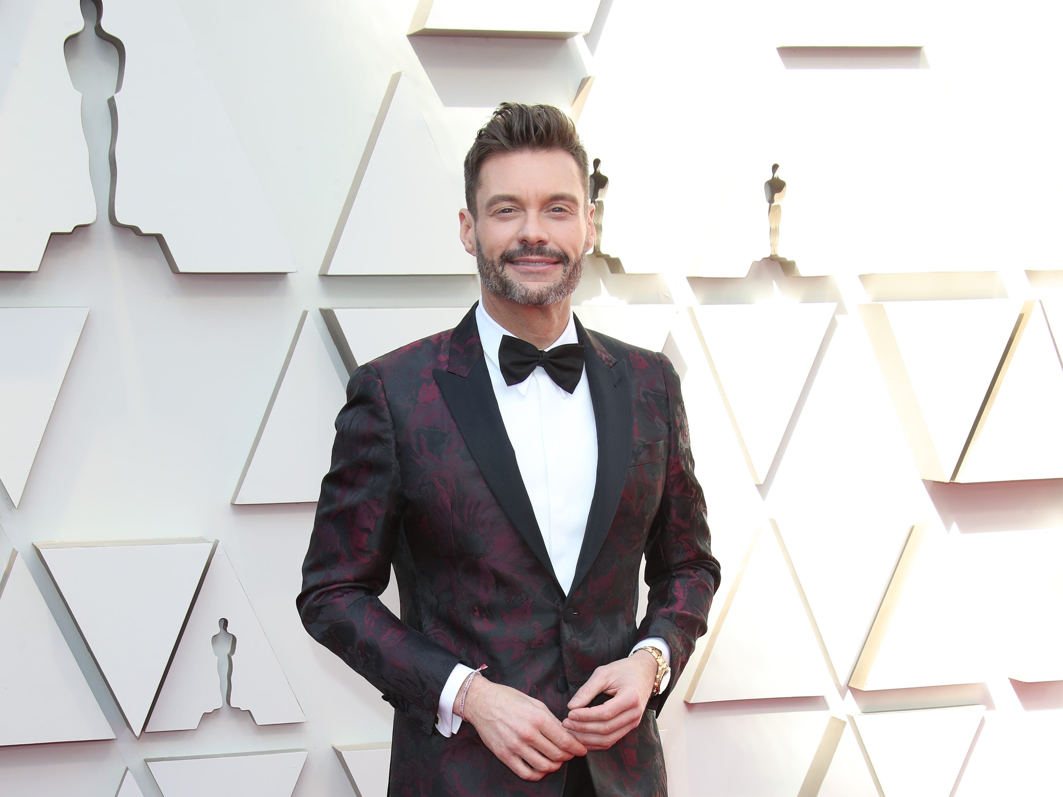 February 24, 2019; Los Angeles, CA, USA; Ryan Seacrest arrives at the 91st Academy Awards at the Dolby Theatre. Mandatory Credit: Dan MacMedan-USA TODAY NETWORK (Via OlyDrop)