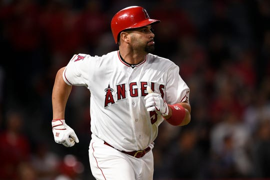 Angels first baseman Albert Pujols.