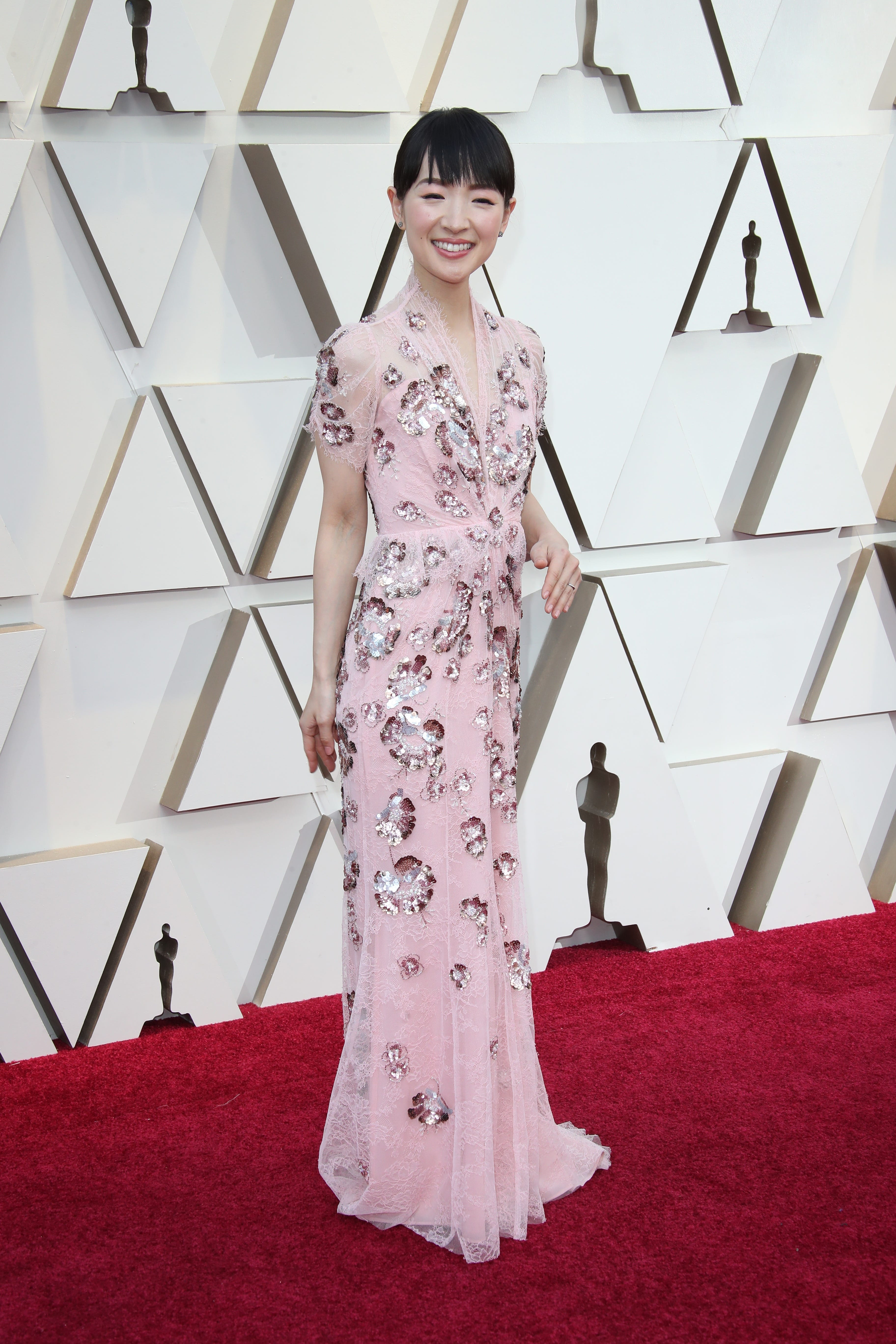 February 24, 2019; Los Angeles, CA, USA; Marie Kondo arrives at the 91st Academy Awards at the Dolby Theatre. Mandatory Credit: Dan MacMedan-USA TODAY NETWORK (Via OlyDrop)