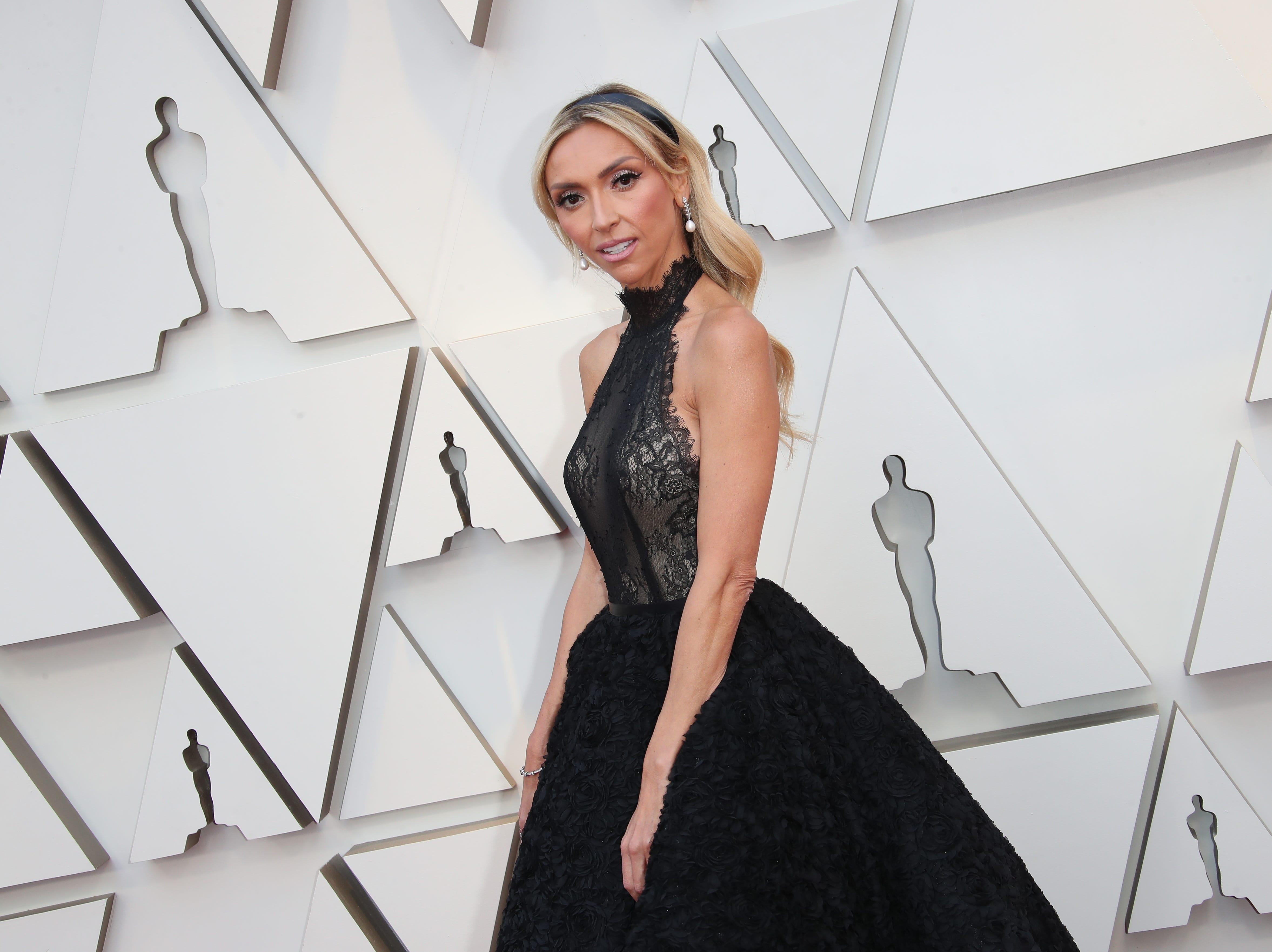 February 24, 2019; Los Angeles, CA, USA; Giuliana Rancic arrives at the 91st Academy Awards at the Dolby Theatre. Mandatory Credit: Dan MacMedan-USA TODAY NETWORK (Via OlyDrop)