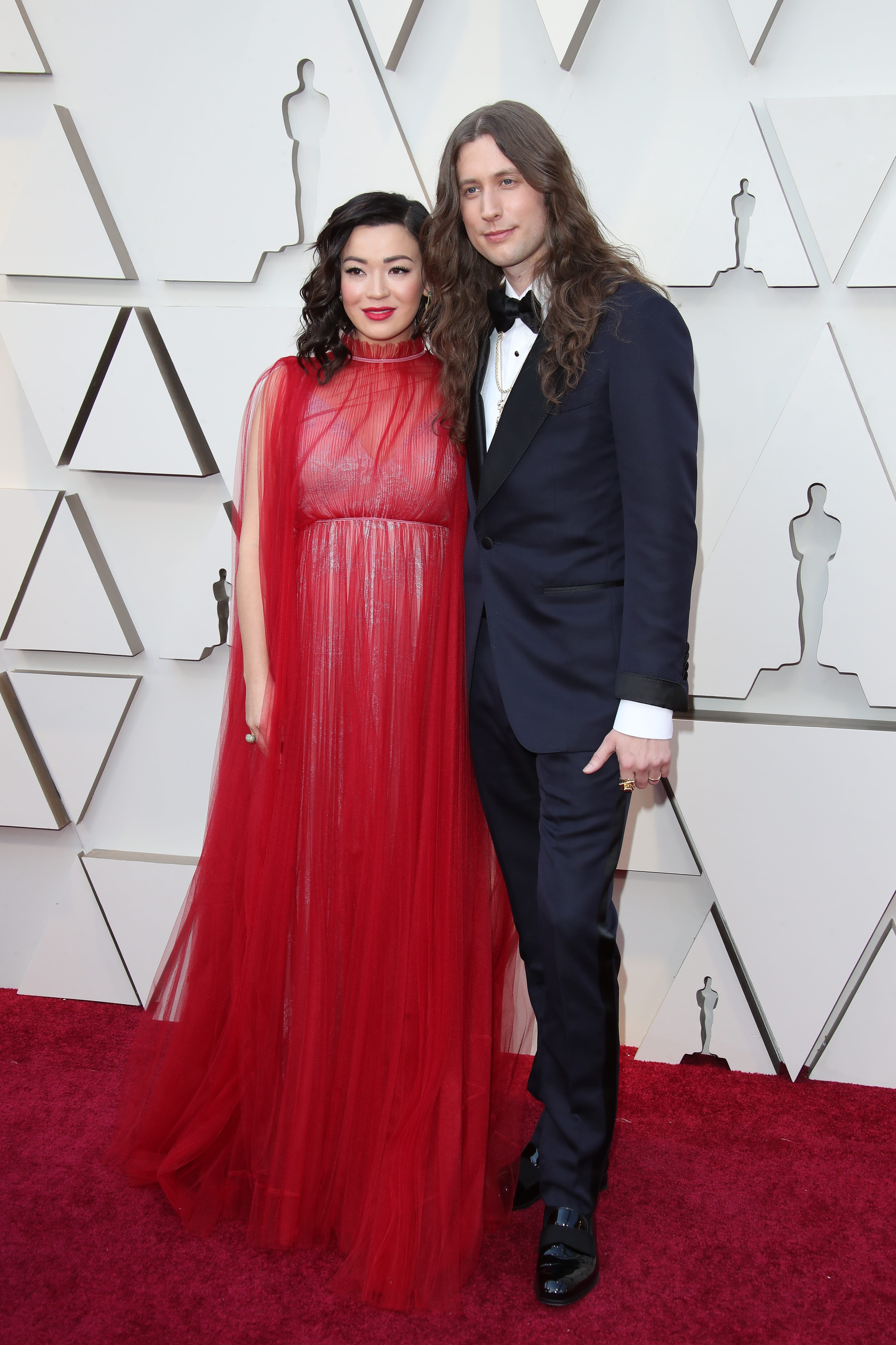 February 24, 2019; Los Angeles, CA, USA; Serena McKinney, left and Ludwig Goransson arrives at the 91st Academy Awards at the Dolby Theatre. Mandatory Credit: Dan MacMedan-USA TODAY NETWORK (Via OlyDrop)