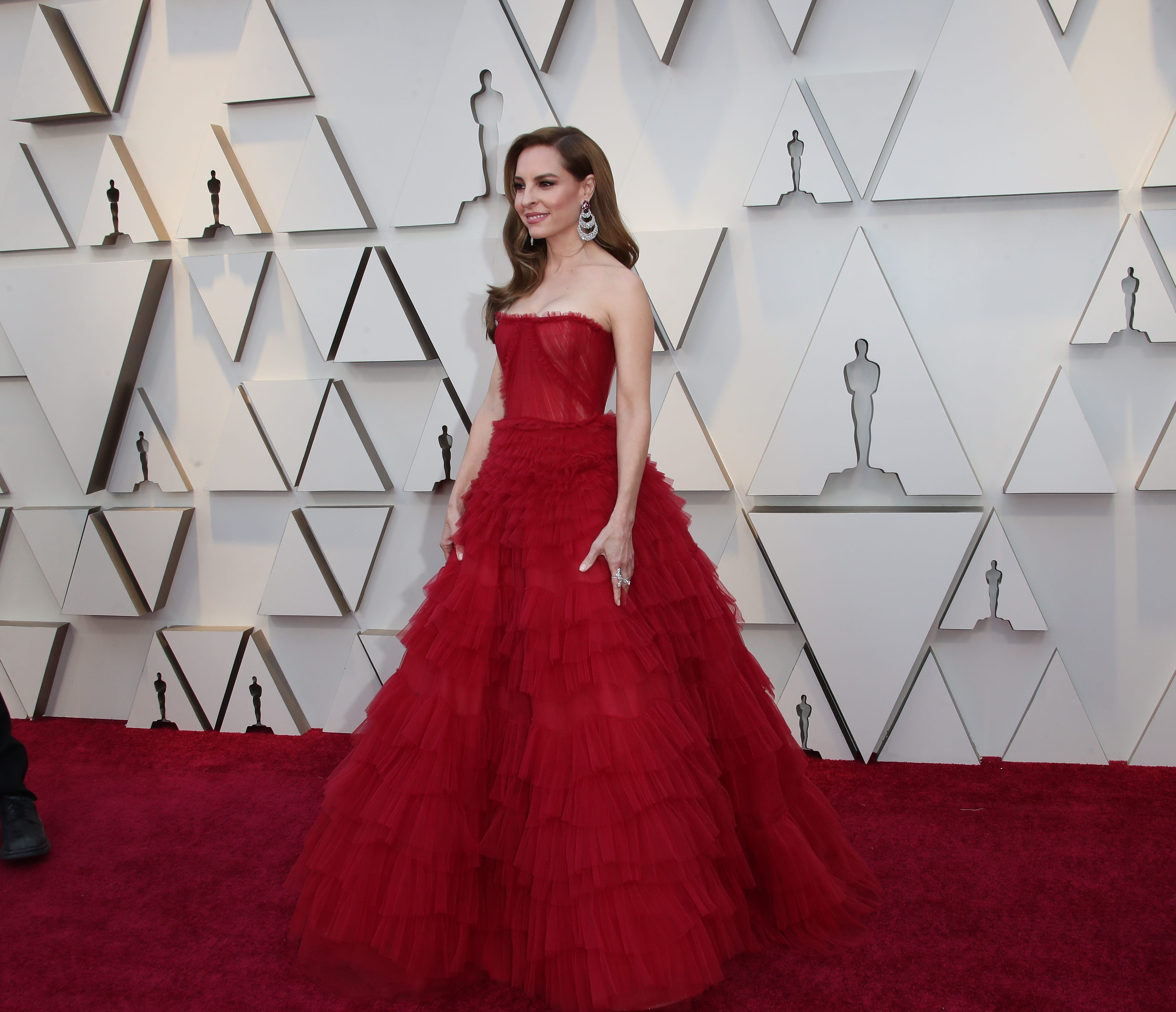 February 24, 2019; Los Angeles, CA, USA; Marina de Tavira arrives at the 91st Academy Awards at the Dolby Theatre. Mandatory Credit: Dan MacMedan-USA TODAY NETWORK (Via OlyDrop)