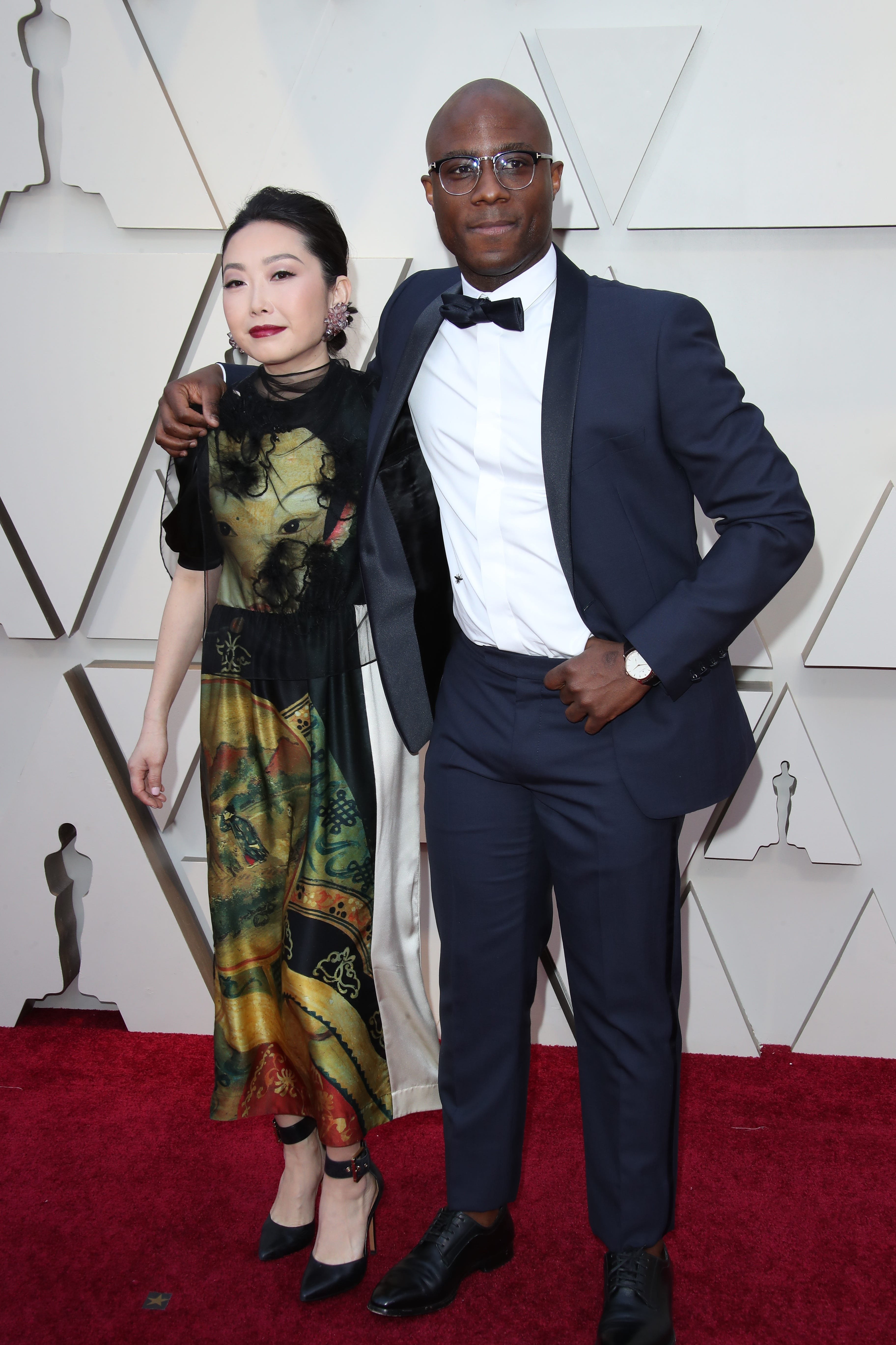 February 24, 2019; Los Angeles, CA, USA; Lulu Wang, left and Barry Jenkins arrives at the 91st Academy Awards at the Dolby Theatre. Mandatory Credit: Dan MacMedan-USA TODAY NETWORK (Via OlyDrop)