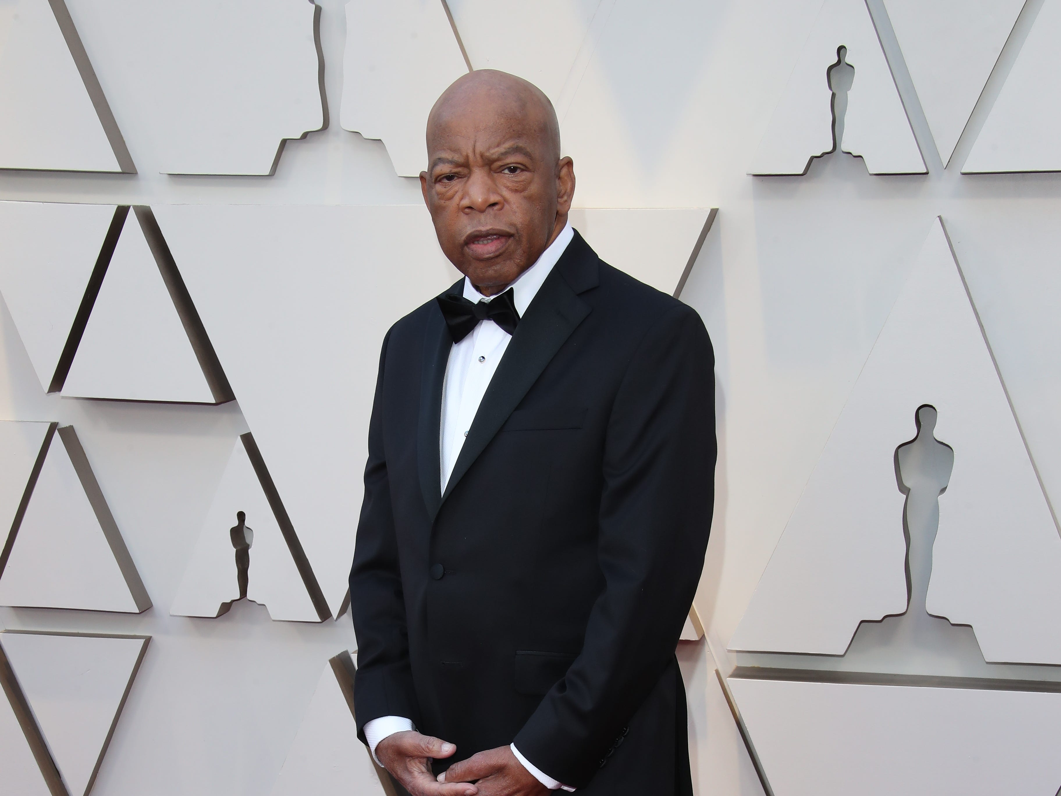 February 24, 2019; Los Angeles, CA, USA; Congressman John Lewis arrives at the 91st Academy Awards at the Dolby Theatre. Mandatory Credit: Dan MacMedan-USA TODAY NETWORK (Via OlyDrop)