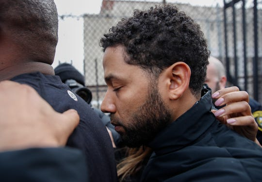 Jussie Smollett on Feb. 21, 2019, in Chicago.