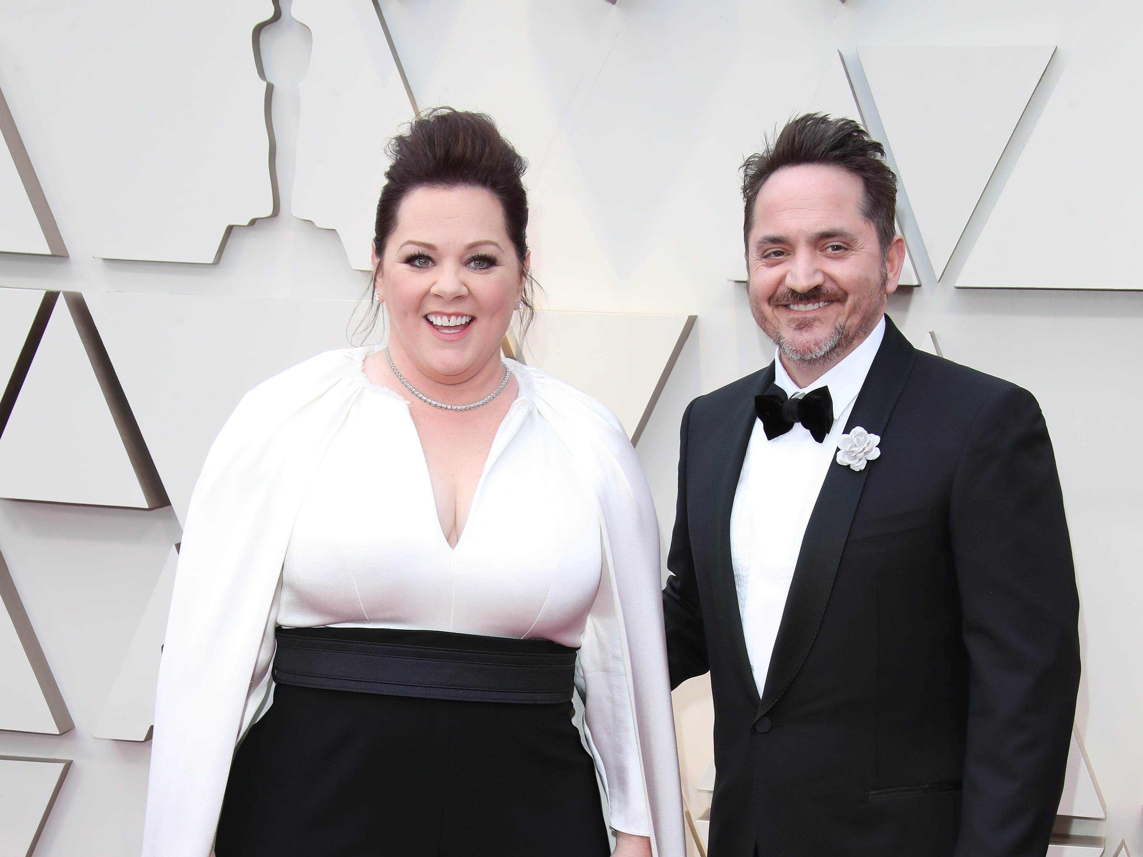 February 24, 2019; Los Angeles, CA, USA; Melissa McCarthy, left and Ben Falcone arrive at the 91st Academy Awards at the Dolby Theatre. Mandatory Credit: Dan MacMedan-USA TODAY NETWORK (Via OlyDrop)