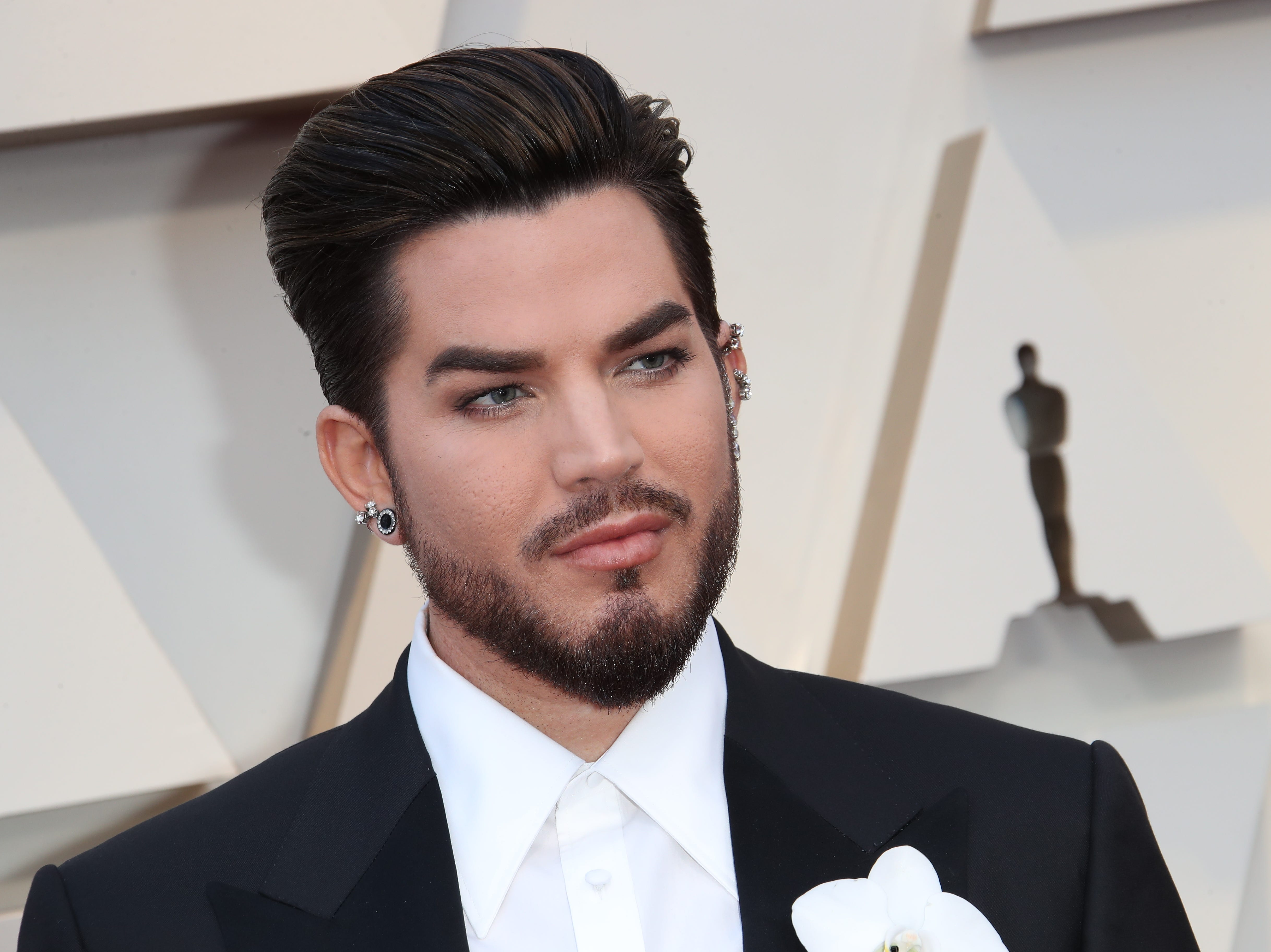 February 24, 2019; Los Angeles, CA, USA; Adam Lambert arrives at the 91st Academy Awards at the Dolby Theatre. Mandatory Credit: Dan MacMedan-USA TODAY NETWORK (Via OlyDrop)