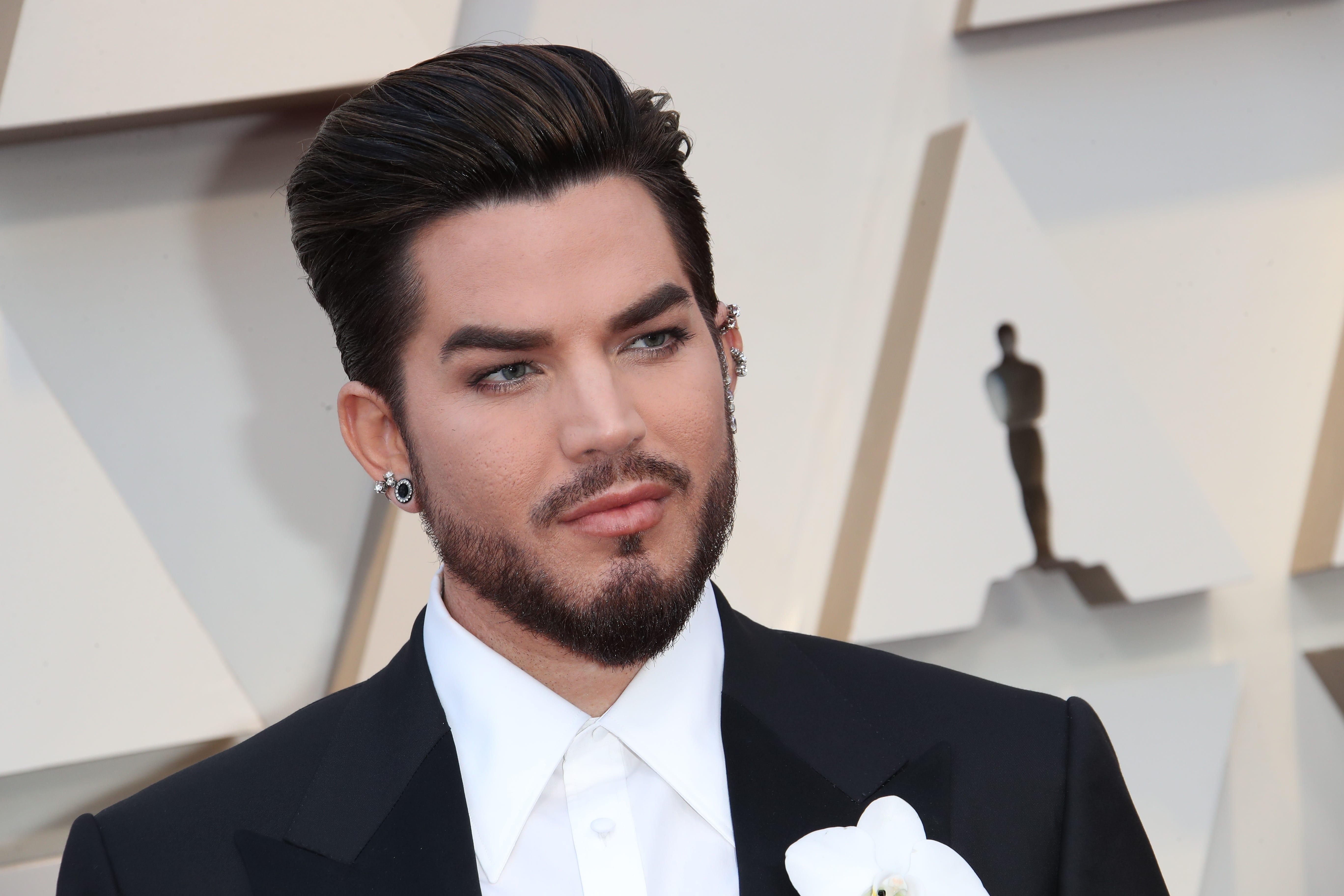 February 24, 2019; Los Angeles, CA, USA; Adam Lambert arrives at the 91st Academy Awards at the Dolby Theatre. Mandatory Credit: Dan MacMedan-USA TODAY NETWORK (Via OlyDrop)