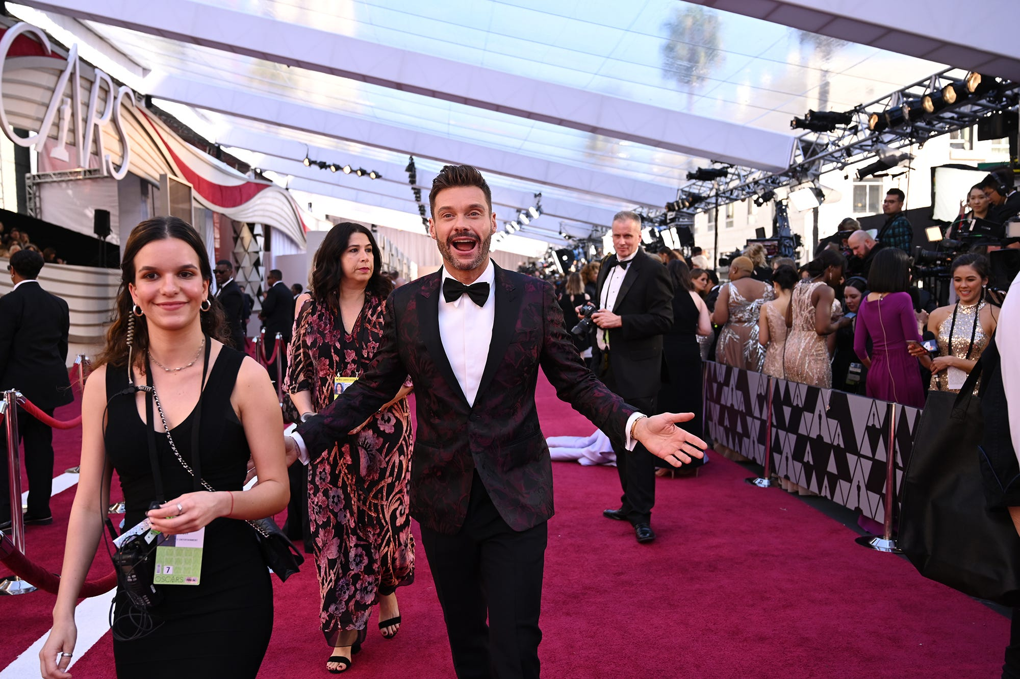 February 24, 2019; Los Angeles, CA, USA; Ryan Seacrest arrives at the 91st Academy Awards at the Dolby Theatre. Mandatory Credit: Robert Hanashiro-USA TODAY NETWORK (Via OlyDrop)