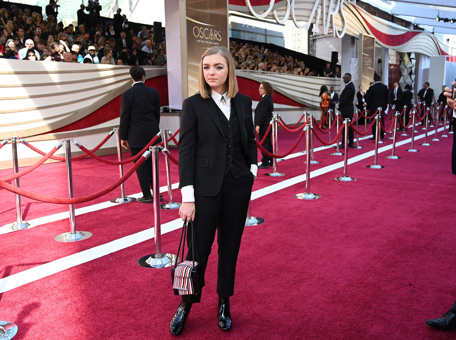 February 24, 2019; Los Angeles, CA, USA; Elsie Fisher arrives at the 91st Academy Awards at the Dolby Theatre. Mandatory Credit: Robert Hanashiro-USA TODAY NETWORK (Via OlyDrop)