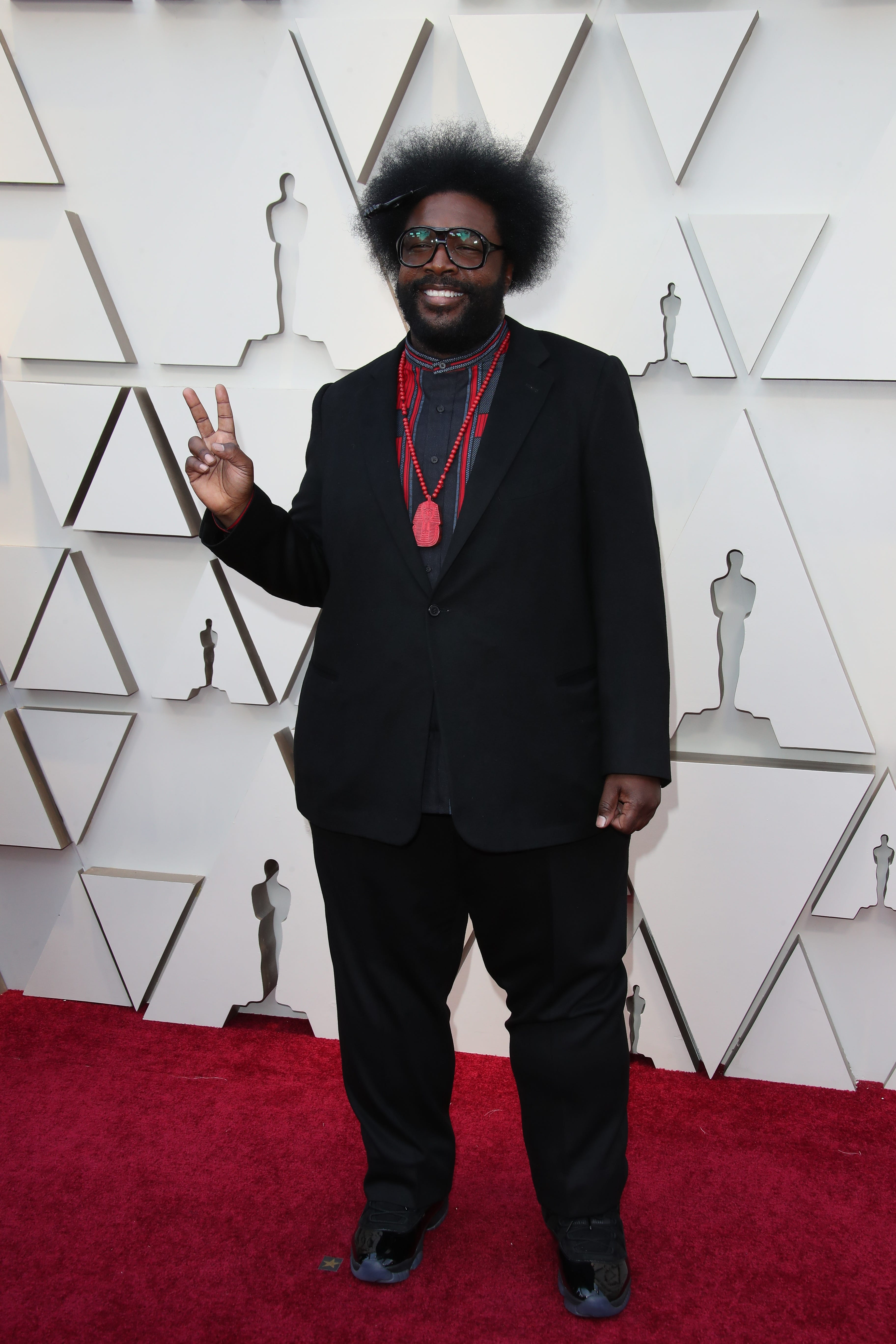 February 24, 2019; Los Angeles, CA, USA; Questlove arrives at the 91st Academy Awards at the Dolby Theatre. Mandatory Credit: Dan MacMedan-USA TODAY NETWORK (Via OlyDrop)