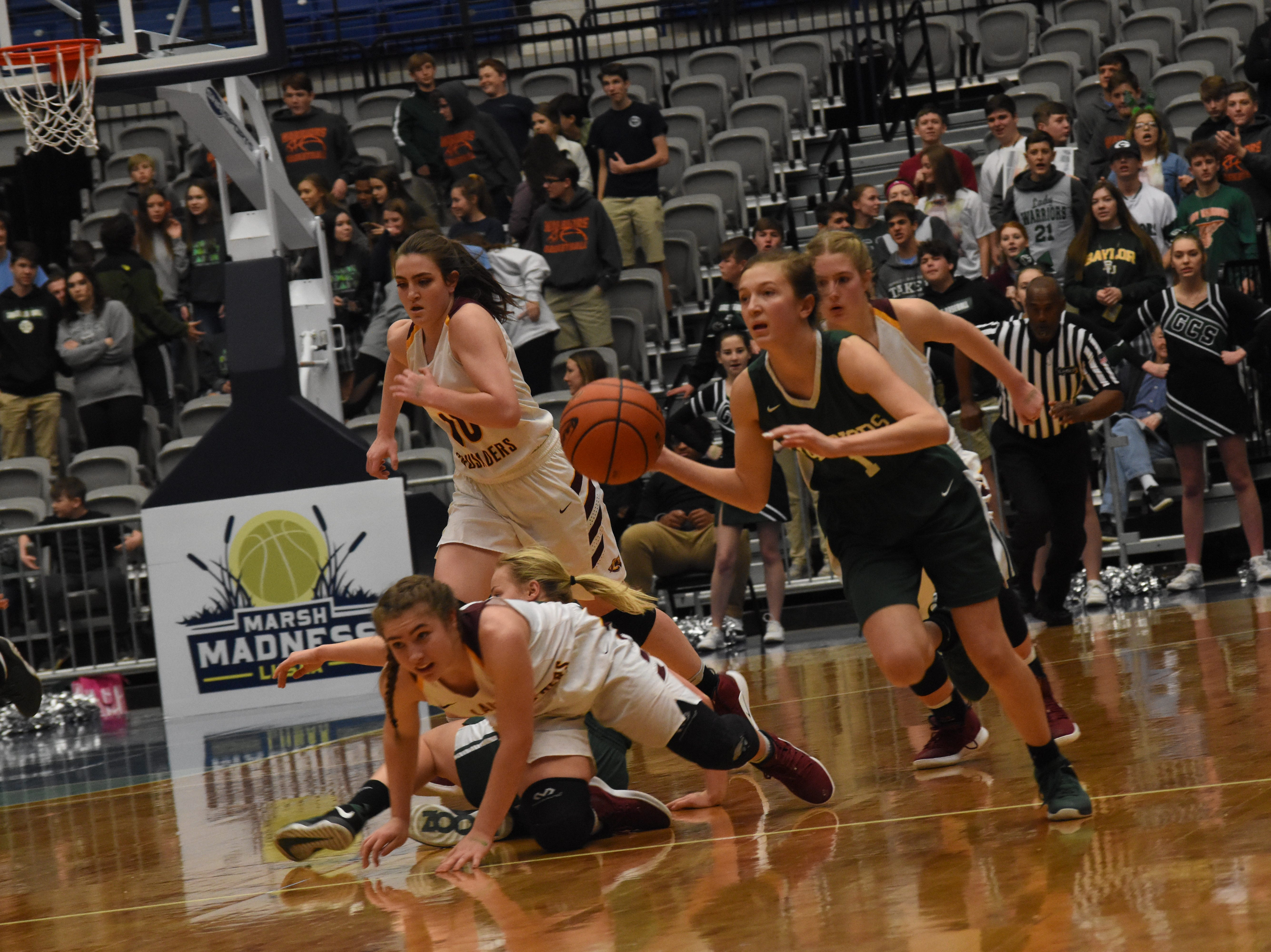Grace Christian School of Alexandria plays Claiborne Christian School of Monroe in the Division V semi-finals of the 2019 AllState Sugar Bowl Louisiana High School Athletic Association Basketball Marsh Madness held Monday, Feb. 25, 2019 at the Rapides Parish Coliseum. The LHSAA Marsh Madness will continue until Saturday.3 Claiborne won 36-26 and advanced to the Division V state championship.