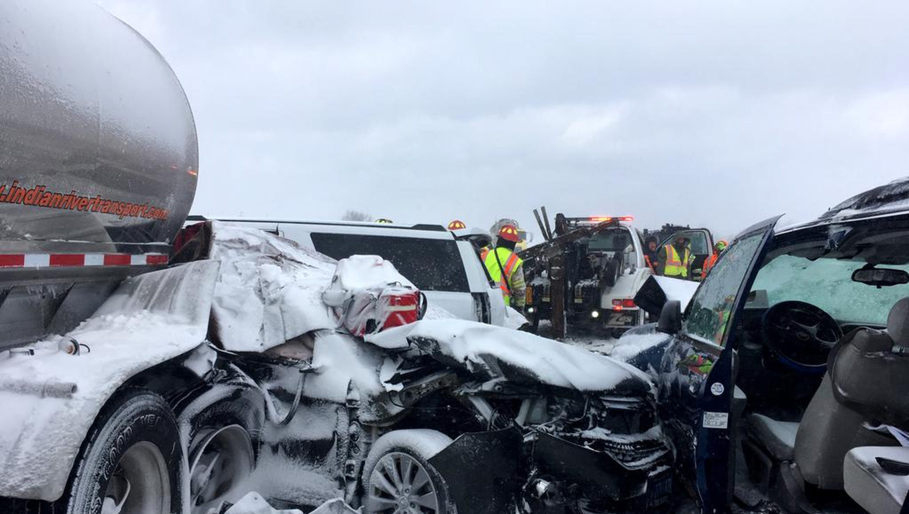 Interstate 41 pileup: New bodycam, dashcam video shows aftermath