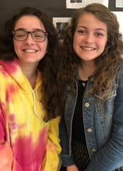 """Gianna Perrone and Adrianna Hendrickson of Point Pleasant Borough High School won second place in the Student Voices video contest with their """"Spooky Island"""" video."""