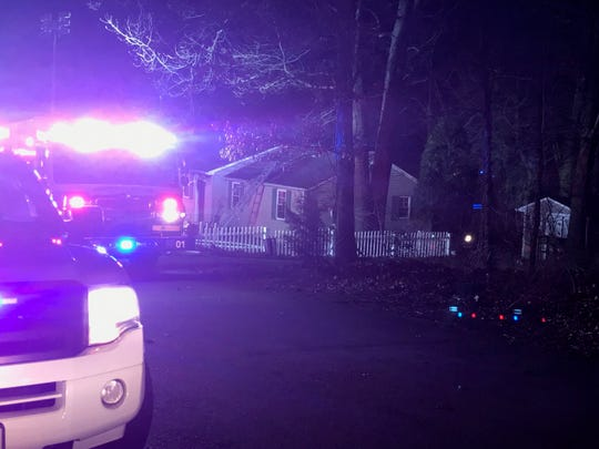 Firefighters and police responded to a house fire at Ridgedale Avenue near North County Line Road on Sunday night.