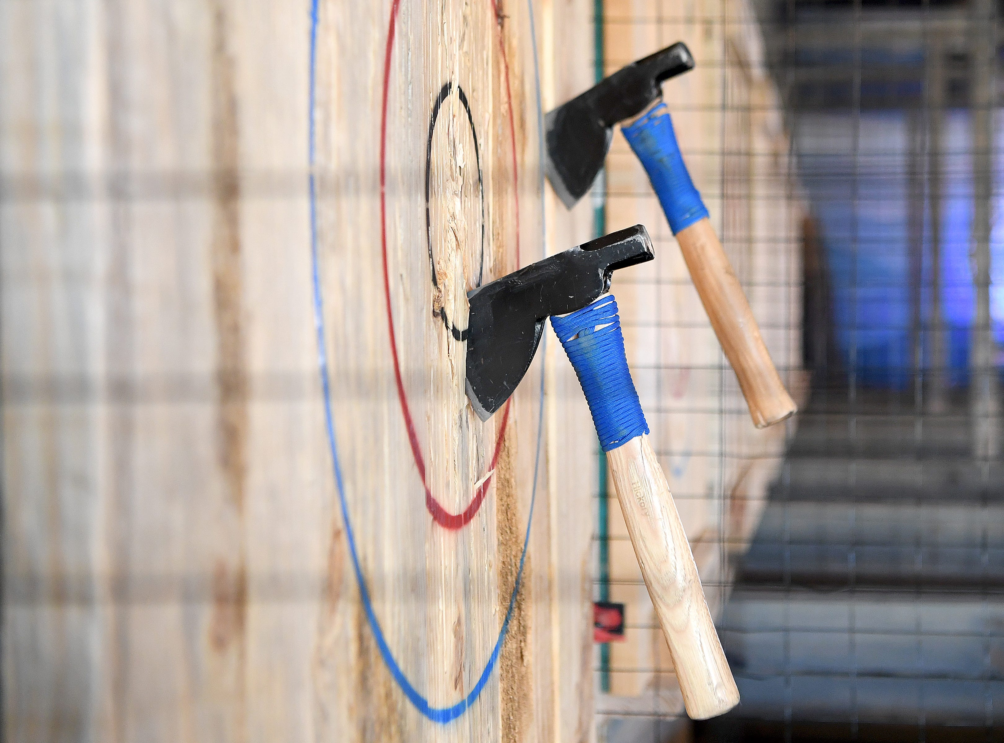 Axeville Throwing Club, Asheville's first ax throwing facility, is planning to open to the public in March.