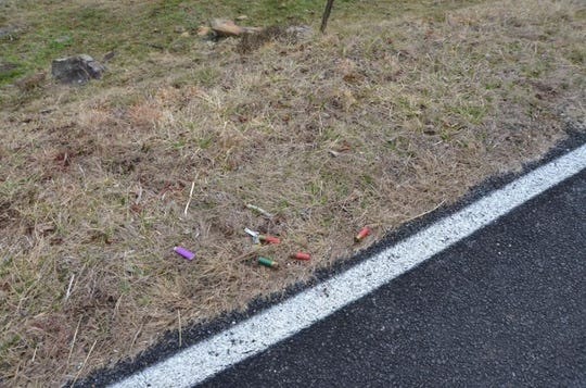 Shotgun shells found near Dayton Ray Rice after he was shot by a Buncombe Deputy.