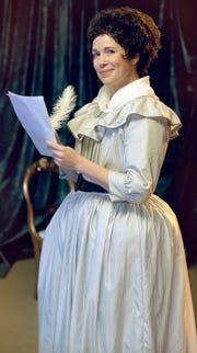 "Meg Wolf makes her BPA debut as Olympe de Gouges in ""The Revolutionists."""
