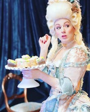 "Justine Stillwell plays Marie Antoinette in BPA's ""The Revolutionists."""