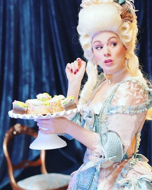 """Justine Stillwell plays Marie Antoinette in BPA's """"The Revolutionists."""""""
