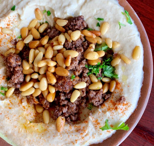 Humus Be Awerma at Skewers in Indialantic is plenty for a light lunch; there's a lot of it and it is filling.