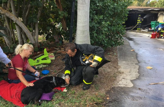 Indialantic Fire Department saves dog from Melbourne Beach house fire.