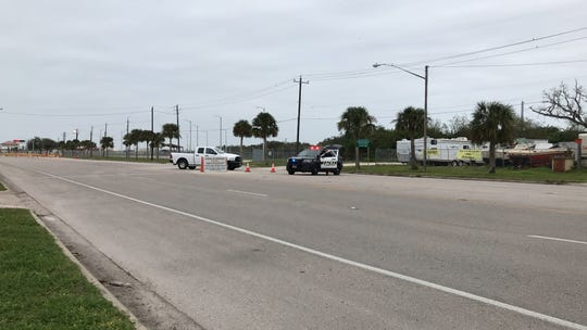 The main gate at Naval Air Station Corpus Christi was blocked nearly two hours by Corpus Christi police and military personnel.