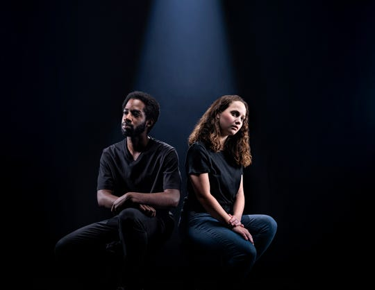 """A promotional photo for Anna Ziegler's """"Actually,"""" which will be performed in the Rosenthal Shelterhouse Theatre March 21–April 26, 2020."""