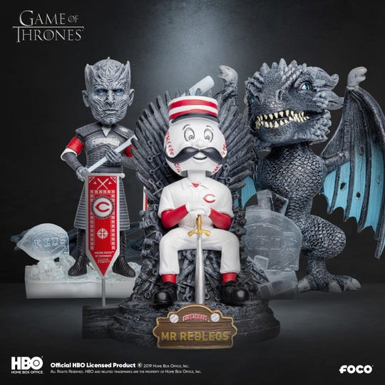 FOCO's Reds Game of Thrones MLB bobbleheads.