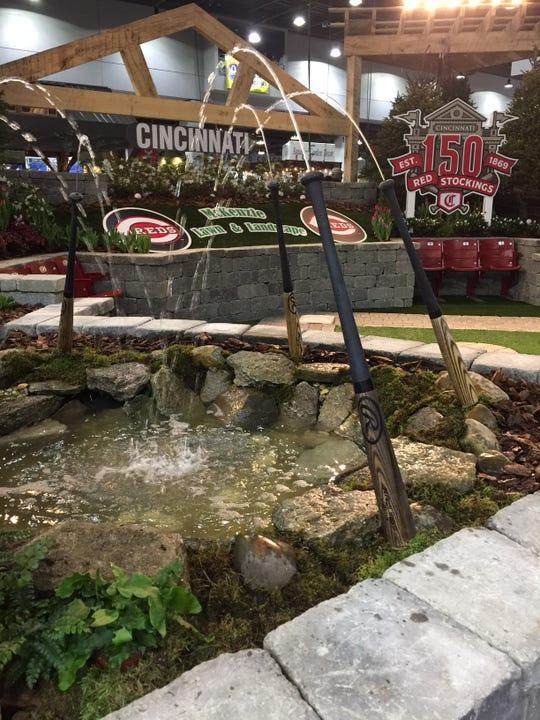 The Cincinnati Reds 150th Anniversary Garden by McKenzie Lawn & Landscape is a highlight of the 2019 Cincinnati Home & Garden Show.