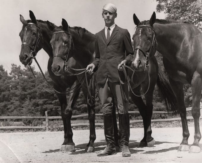Before he was a billionaire businessman, Carl Lindner III was a champion rider. In 1969, he was awarded a championship on each of the three horses, Fancy Free, Meadow Springs and Misty View, at the Riding Club Hunter Show.