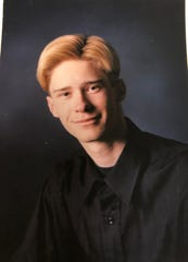 Nick Galinger's senior year photo from Clermont Northeastern in Clermont County, Ohio.
