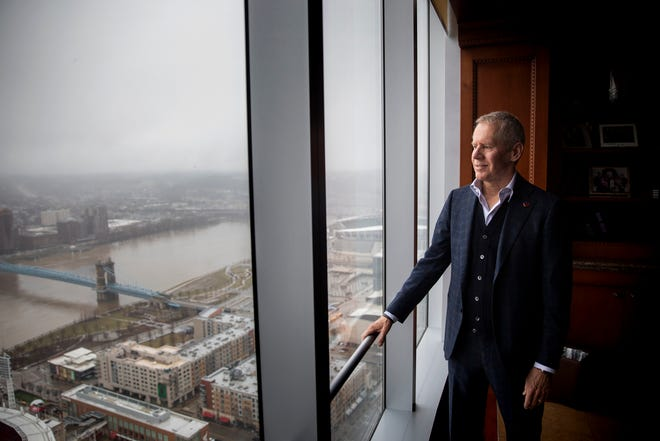 Carl Lindner III poses for a portrait in his office on the 41st floor of Great American Tower at Queen City Square in Downtown, Cincinnati.