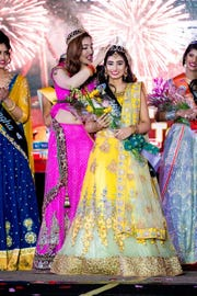 Kim Kumari, 18, of the Iselin section of Woodbridge is crowned Miss India USA on Feb. 17 at Royal Alberts Palace in the Fords section of the township.