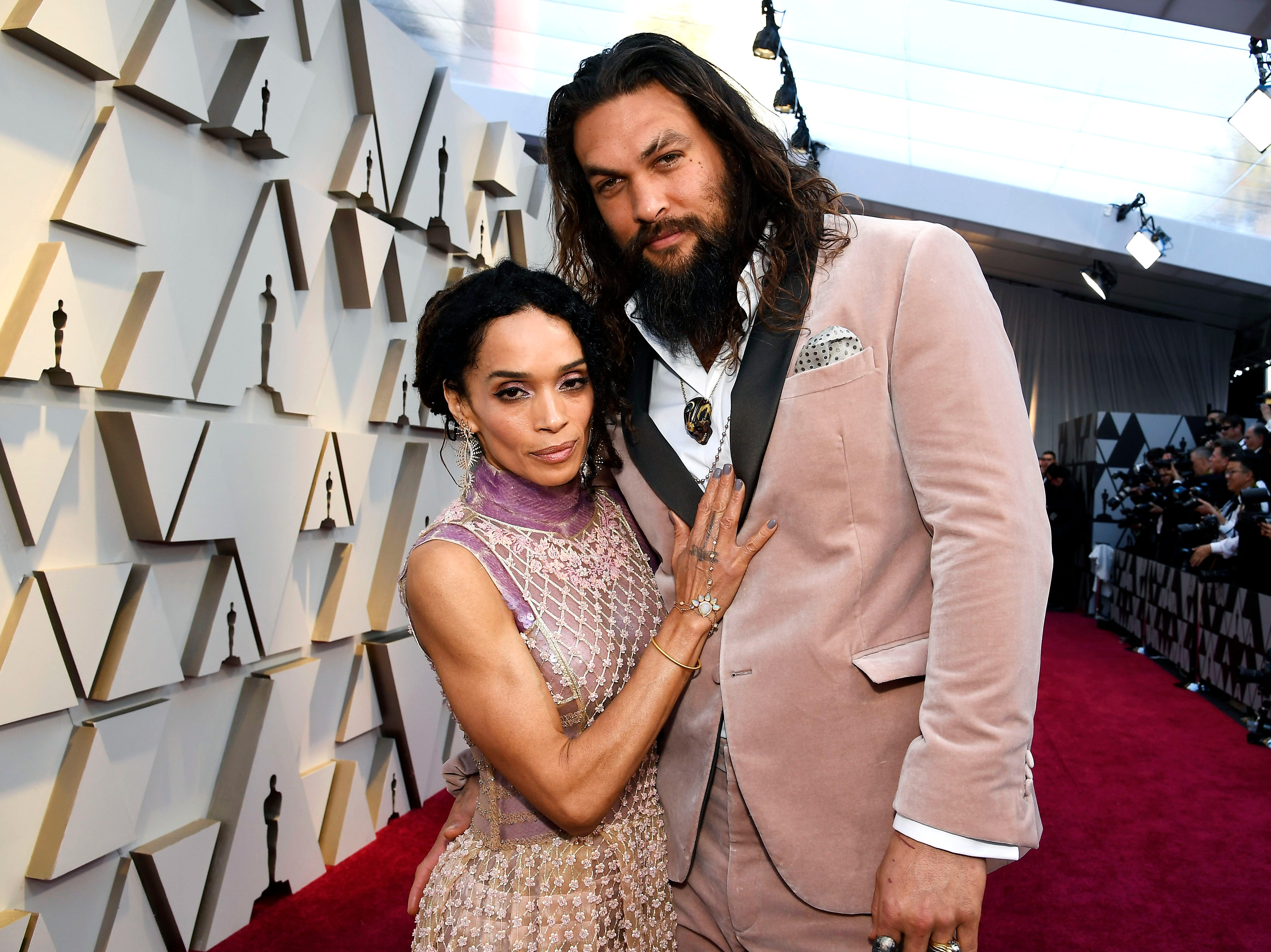 Lisa Bonet and Jason Momoa attend the 91st Annual Academy Awards at Hollywood and Highland on February 24, 2019 in Hollywood, California.