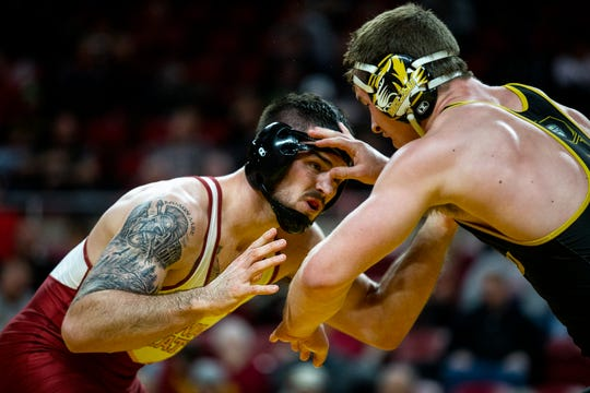 Iowa State's Willie Miklus finished sixth at 197 pounds at the 2019 NCAA Wrestling Championships. He ends his college career as a four-time All-American.