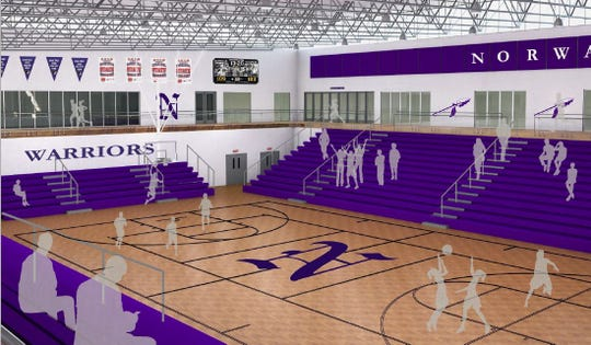Norwalk schools is planning a 80,000 square foot expansion to its high school athletics facilities that includes a new main gym with a 2,200-person capacity.