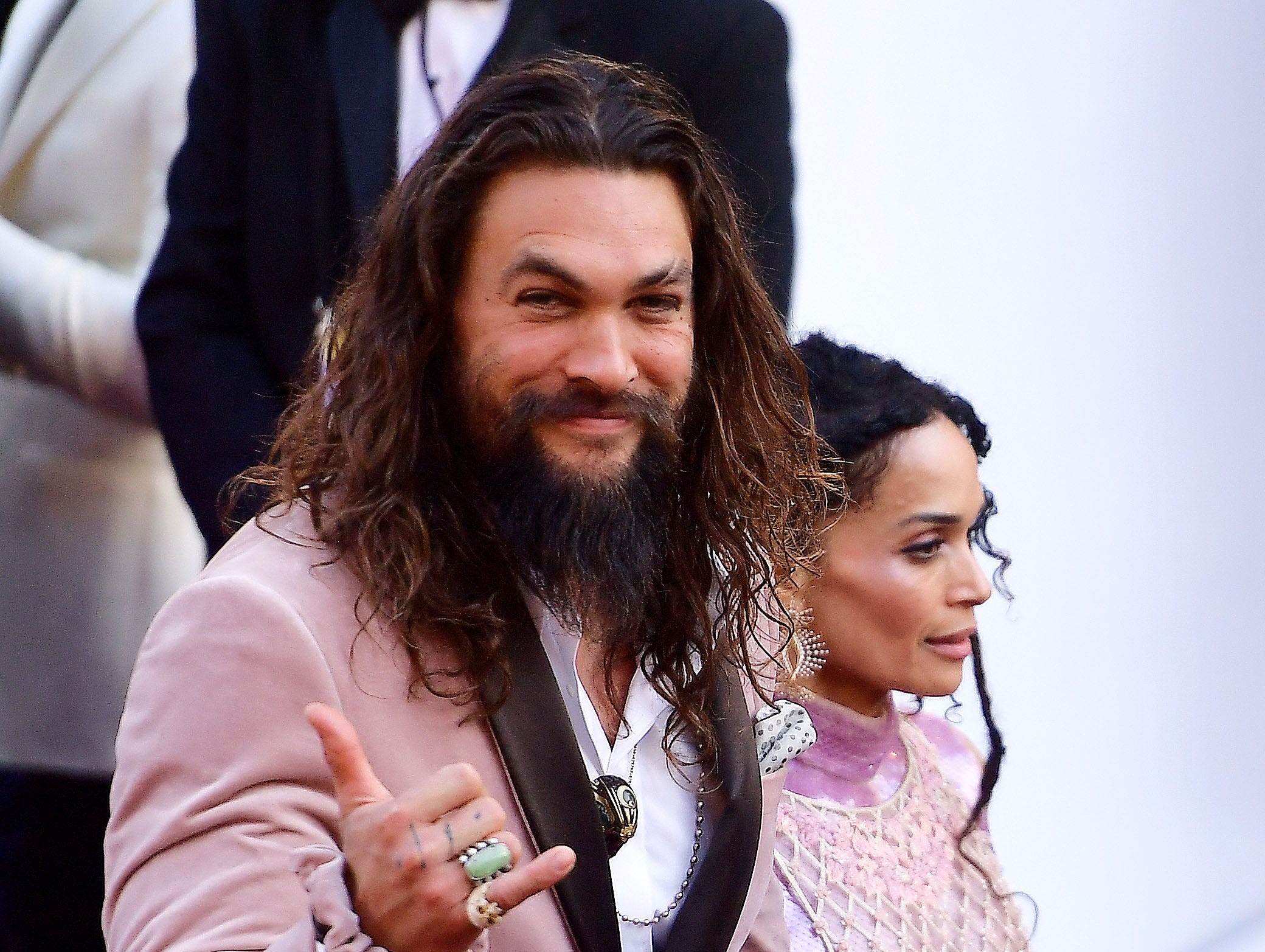Jason Momoa and Lisa Bonet attend the 91st Annual Academy Awards at Hollywood and Highland on February 24, 2019 in Hollywood, California.
