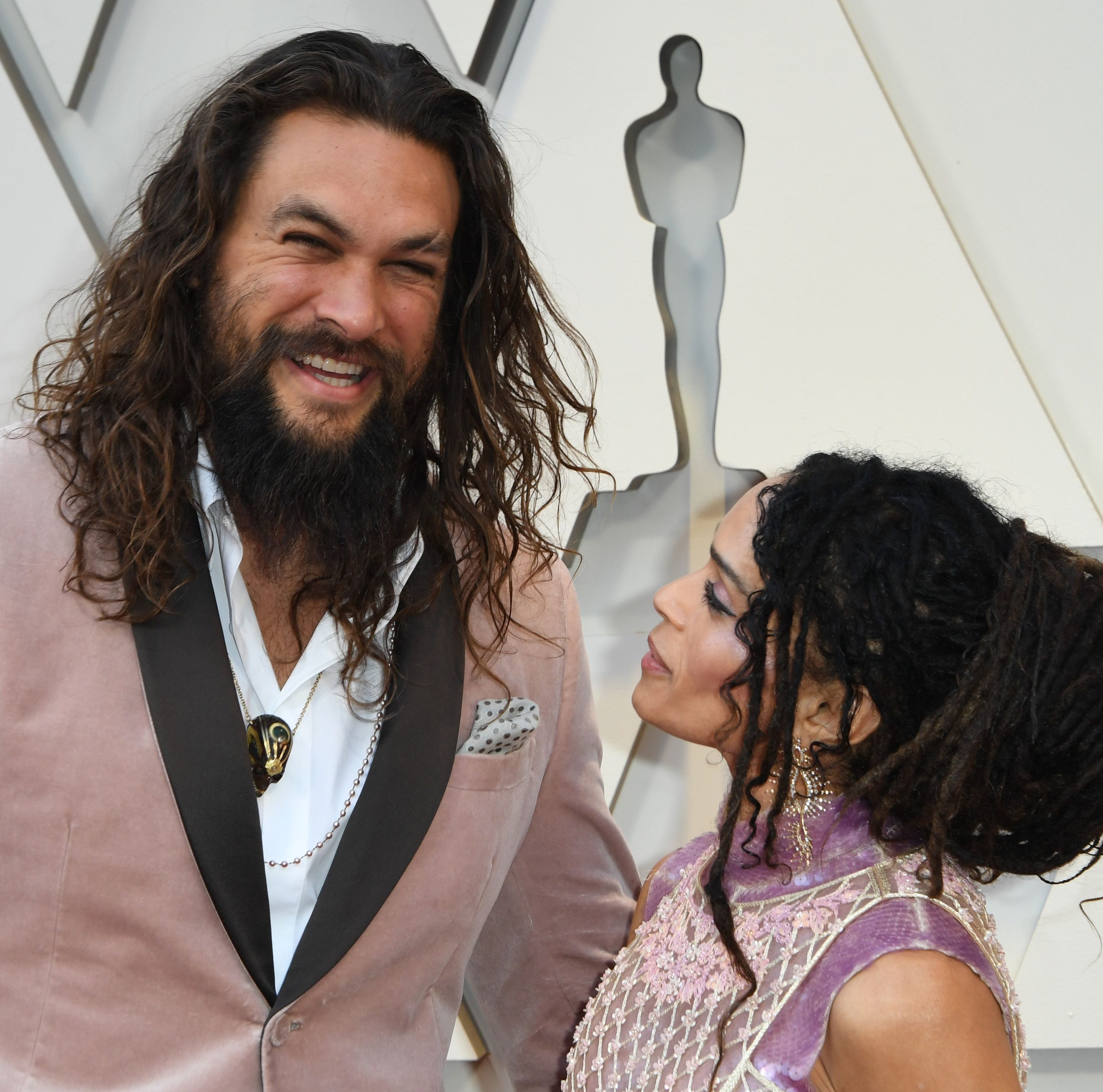 Actor Jason Momoa and wife actress Lisa Bonet...