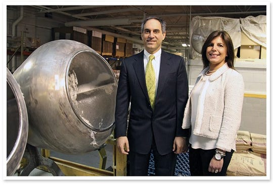 Frank Germack III and his sister Suzanne Germack Frederickson are third-generation owners of Germack Pistachio Co.
