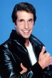 "Henry Winkler starred as ""The Fonz"" on ""Happy Days"" from 1974-83."