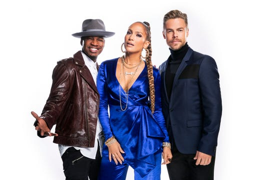 NBC's 'World of Dance' stars (from left) Ne-Yo, Jennifer Lopez, Derek Hough.