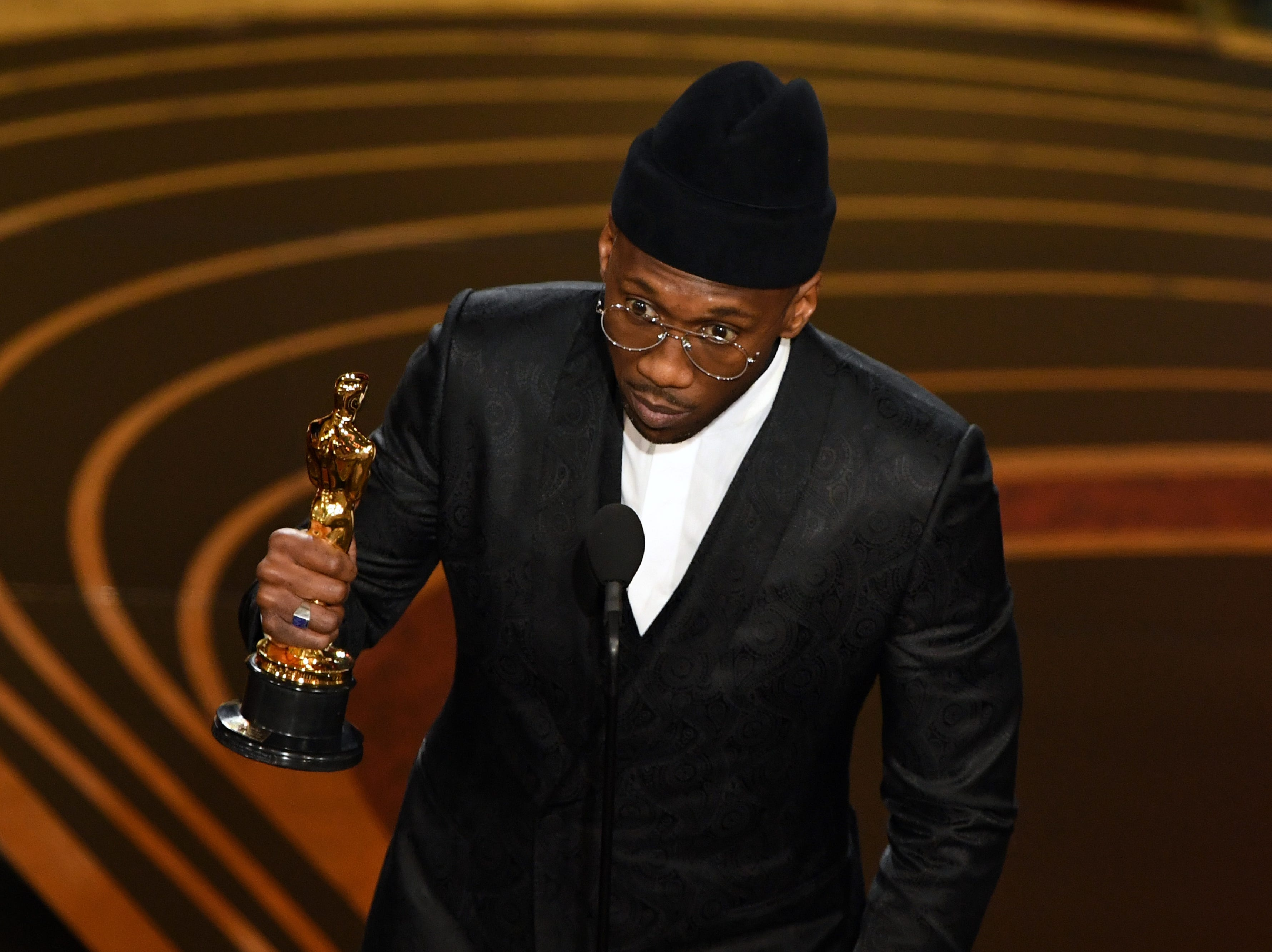 "Best Supporting Actor nominee for ""Green Book"" Mahershala Ali accepts the award for Best Supporting Actor during the 91st Annual Academy Awards."